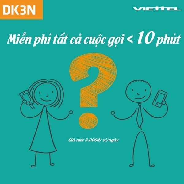 gói cước DK3N của Viettel