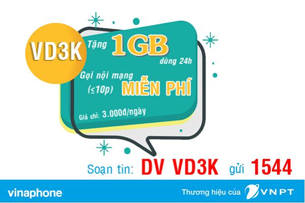 Đăng ký gói VD3K Vinaphone 3.000đ