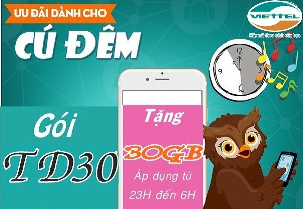 đăng ký gói TD30 Viettel
