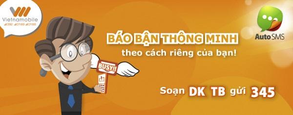 Đăng ký dịch vụ tin nhắn báo bận AutoSMS Vietnamobile