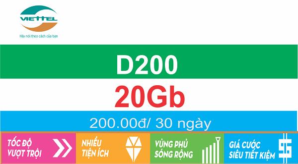 gói cước D200 Viettel