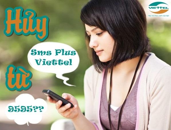 hủy dịch vụ SMS Plus Viettel