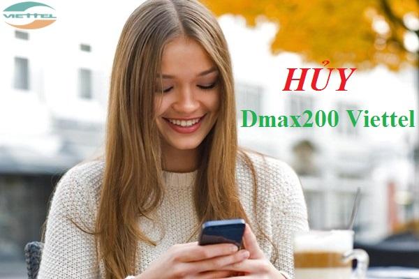hủy gói cước Dmax200 Viettel