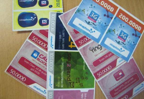 số serial, mã thẻ cào Vinaphone và các mệnh giá thẻ Vinaphone